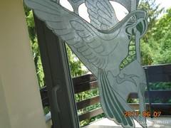 Madeira papagájos díszítő elem 30 x 20 cm