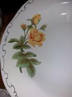 Zsolnay sárga rózsás tányérsor