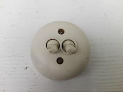 Régi  lámpa kapcsoló bakelitből -fehér-