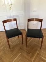 4db skandináv vintage étkező szék 1960 Moller inspirált / Scandinavian teak