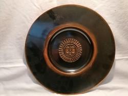 Bronz iparművész falitál 32,5 cm