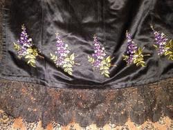 Antik hímzett csipkés kötény 19. sz. végének stílusában, antique apron
