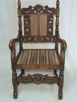 Carved armchair c1780
