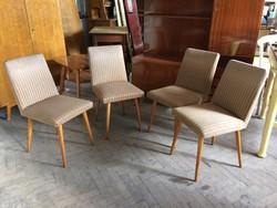 Régi retro kárpitozott szék étkezőszék mid century