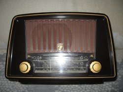 Antik ,  csöves   rádió Philips BX   230 U     1953 - as .