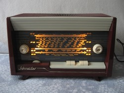 Antik   csöves    rádió   Schneider Calypso    1958 Fr.