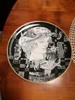 Hollóházi Szász Endre tányér 20 cm,Adria