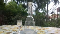 Szőlőfürt csisz. borosüveg-boros palack dugóval /pohár is hasonló