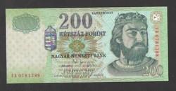 "200 forint 2005. ""FB""  UNC!!  RITKA!!"