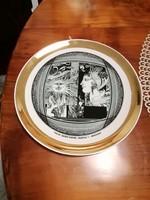 Hollóházi Szász Endre tányér 20 cm,Napfény