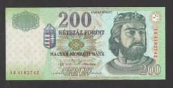 "200 forint 2004. ""FB""  UNC!!  RITKA!!"