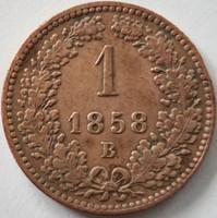 ★1858 Ferenc József 1 Krajcár B★