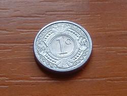 HOLLAND ANTILLÁK 1 CENT 2001  ALU. KICSI 14 mm ( KEDVEZMÉNY LENT!!)