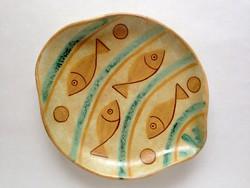 Gorka Lívia kerámia tál, asztalközép  24 cm