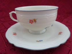 THUN cseh porcelán, antik  teáscsésze + alátét. Apró virágmintával.