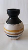 Gorka Lívia - csíkos váza, hibátlan, jelzett, 18 cm
