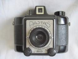 Régi Pajtás Gamma bakelit fényképezőgép bőrtokban