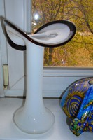 Art deco opál üveg  váza nagy méretű
