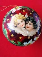 Régebbi karácsonyi angyalkás doboz karácsonyfadísznek is használható