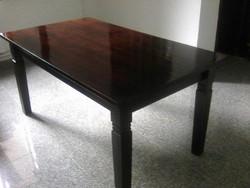 Nagyméretű fa asztal, tömör bükk étkező asztal, családi, vagy vendéglői asztal