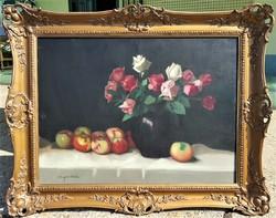 Molnár Z. János / Rózsacsendélet almával