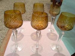 Kristály pohár készlet , szett
