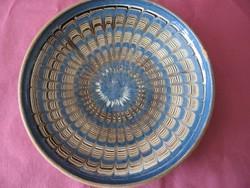 Régi erdélyi népi cserép tányér