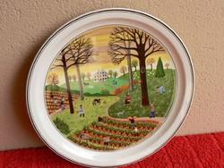 Villeroy&Boch porcelán falitányér