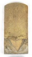 1A512 Antik jelzett hódfarkú tetőcserép 1890