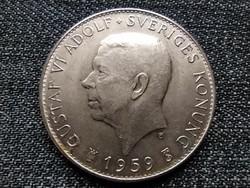 Svédország VI. Gusztáv Adolf 150 éves a svéd alkotmány .400 ezüst 5 Korona 1959 TS (id22347)