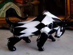 Muranói üveg bika