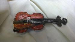 Hegedű -hűtőmágnes  9 cm