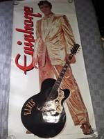 Eredeti Óriás plakát Elvis Presley Epiphone gitár poster 1996-ból 180 cm x 88 cm