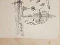 Gergely Péter: Világteremtés I., 1972, tus, méret jelezve