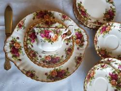 Royal Albert Old Country Roses angol csontporcelàn tea szett