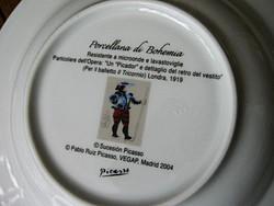 Gyűjtői Picasso Porcellana di Bohemia sorszámozott tányérok 4 db