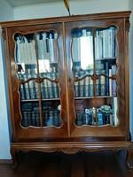 Neobarokk könyvszekrény vitrin