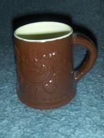 Városlődi kerámia söröskorsó 10,5 cm magas (12/d)
