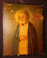 Régi orosz ikon: Szarovi Szent Szerafim.