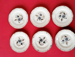 Zsolnay cornflower pattern small plate set