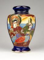 1A564 Régi jelzett kék SATSUMA japán porcelán váza