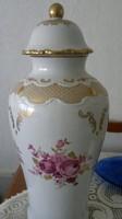 Wallendorf porcelán díszes nagy váza