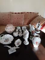 Herendi porcelánok 18db álló gyűjtemény