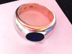 Tömör ezüst gyűrű lápisz kővel
