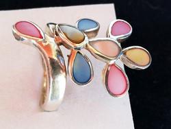 Ezüst gyűrű gyöngyház diszitéssel