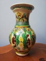 Hucul mintás hibátlan mázas kerámia váza