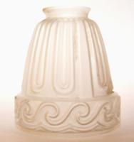 Eredeti régi szecessziós lámpa búra