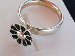 Spinning ezüst gyűrű zománc diszitéssel