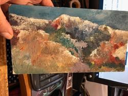 Mednyánszky jelzéssel a hátoldalán, olaj, festőlemez, 22 x 12 cm-es.
