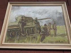 Dunai  : katonai témájú festmény